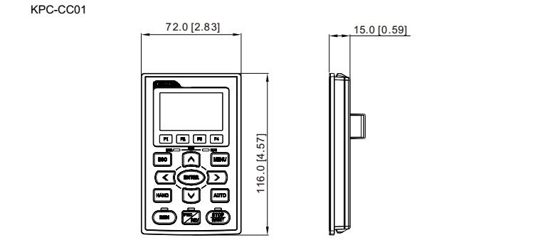 台达变频器CP2000操作面板尺寸